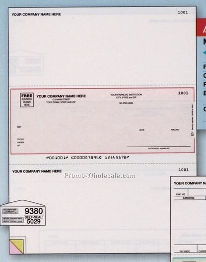 2 Part Laser Multipurpose Check (Peachtree/Classic Accounting)
