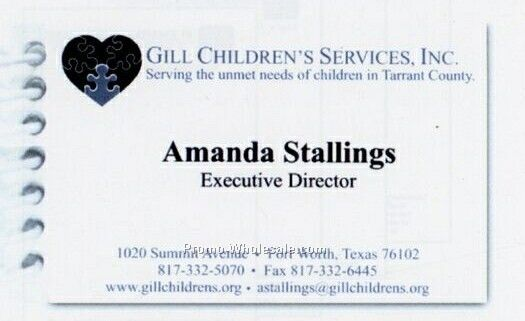 "3-1/2""x2"" Business Card Notepad (Cards Printed)"