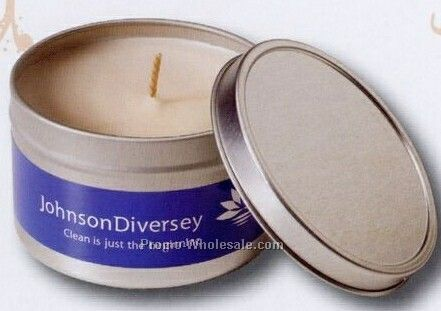 6 Oz Vanilla Scented Soy Candle