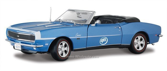 "9"" Blue 1968 Chevrolet Camaro Ss396 Convertible Die Cast Replica"
