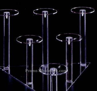 Acrylic Pedestal - 6 Dumbbell Grouping