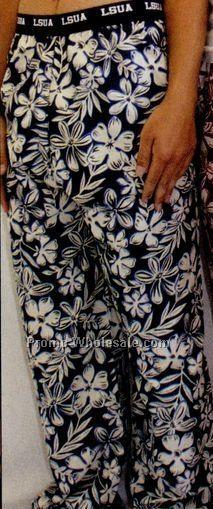 Adult Bodacious Blue Hawaiian Lounge Bottom Pants (2xl)