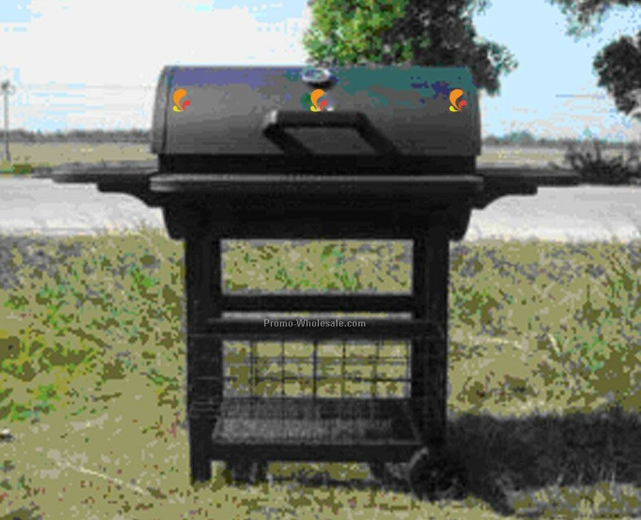 Barbecue Grill - Rounded Top With Front & Side Racks And Bottom Storage