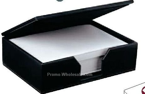 Bermahide Desktop Note Paper Holder With Suedene Lining
