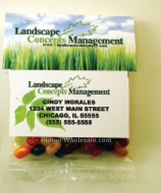 Business Card Header Filled W/ 1/2 Oz. Skittles