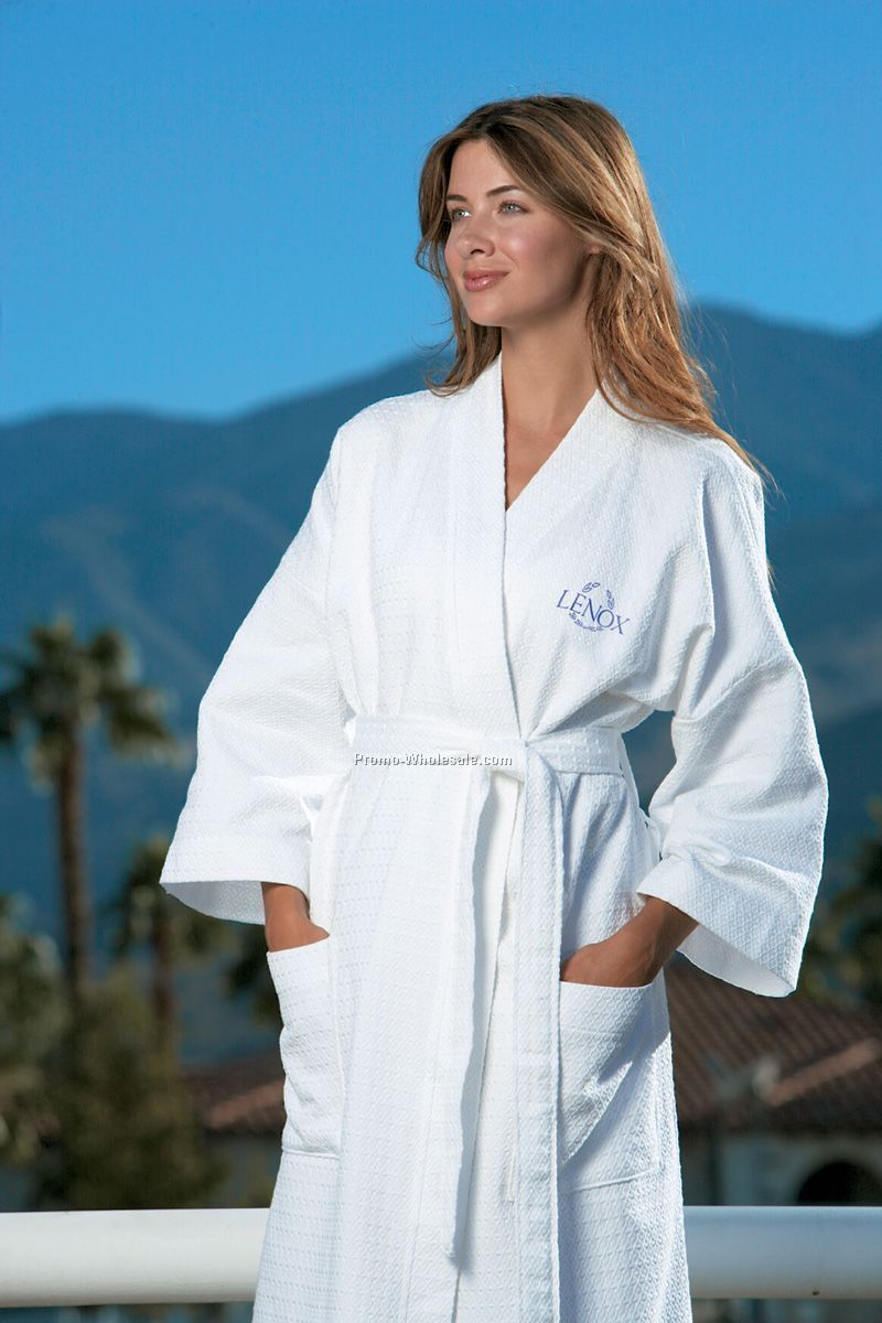 Cabana Bay Turkish Cotton Waffle Weave Robe - One Size (Blank)