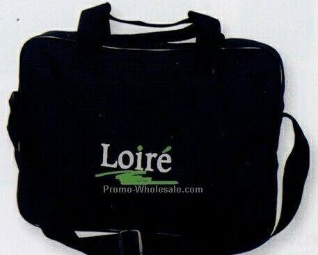 Polyester Briefcase With Adjustable Shoulder Strap (Embroidered)