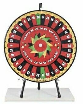 Pre-designed Roulette Tabletop Prize Wheel