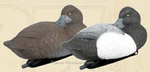 Sleeping Blue Bill Duck Decoy W/ Weighted Keel