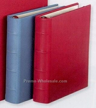 Small Clear Pocket Photo Album W/ Traditional Genuine Leather