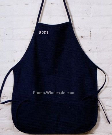 Ultraclub Large Two-pocket Bib Apron - Natural