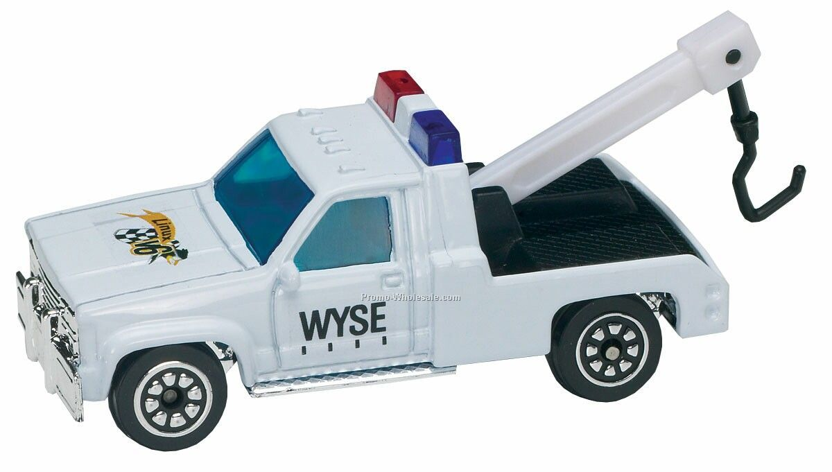 White Tow Truck Die Cast Mini Vehicles - 3 Day