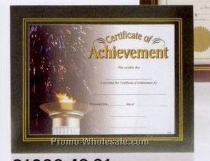 Wood Grain Leatherette Certificate Holder Frame