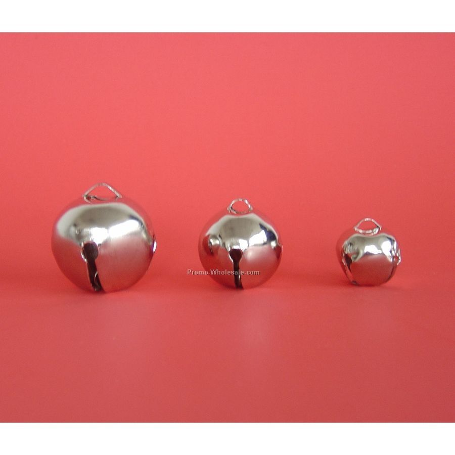 "1-1/2"" Nickel Silver Round Jingle Bell"