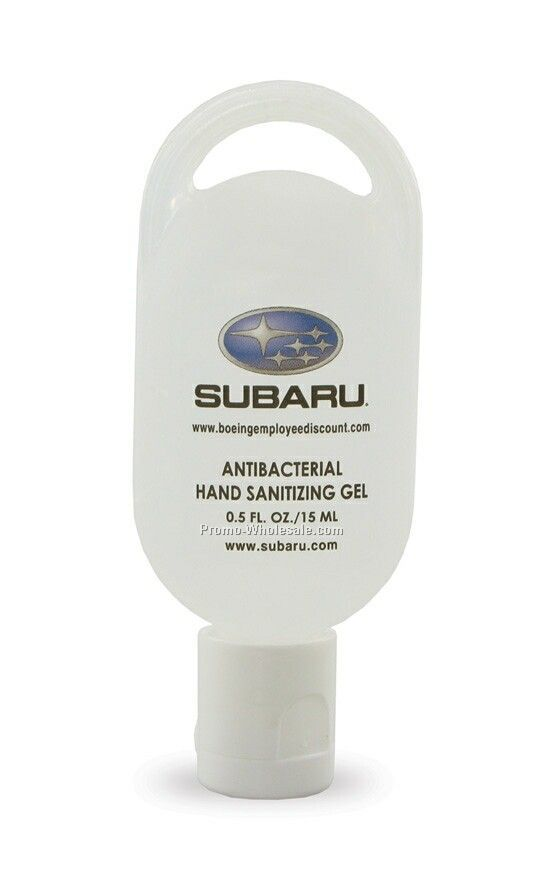 1/2 Oz. Hand Sanitizing Gel W/ Loop Tottle - Antibacterial/Non Alcohol