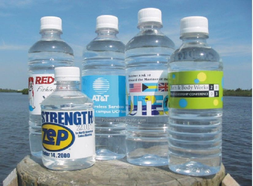 16.9 Oz. Purified Bottled Water W/Twist Cap (1/2 Liter)