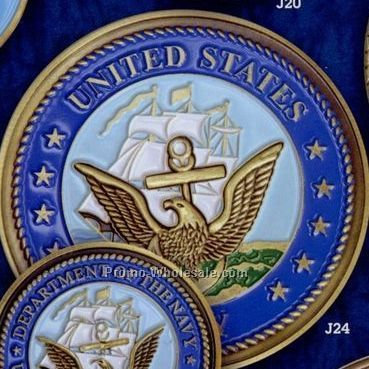 "2-1/2"" Navy Military Seal Color Filled Coin"