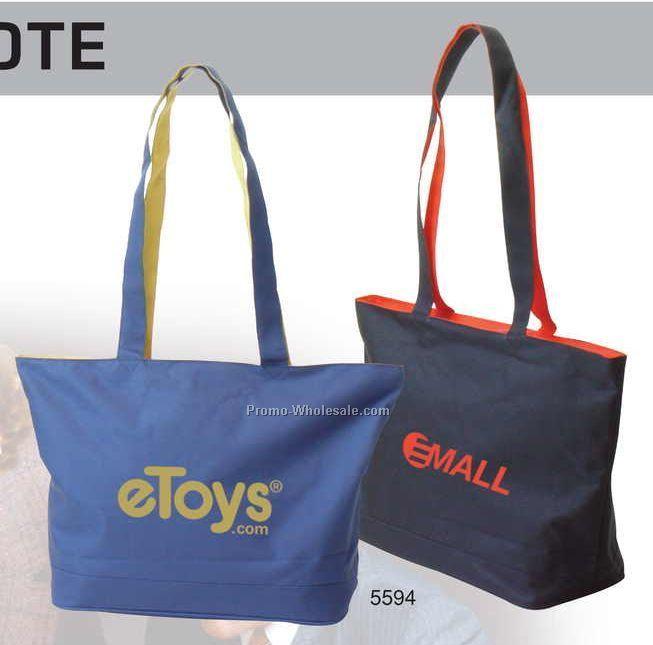 "23""x14""x8-1/4"" Polyester Denier Jumbo-size Tote Bag"