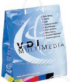 "3-1/2 Mil. Plastic Shopping Bags W/ Clip Loop Handle (16""x6""x19""x6"")"