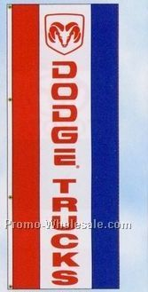 3'x8' Stock Double Face Dealer Rotator Logo Flags - Dodge Trucks