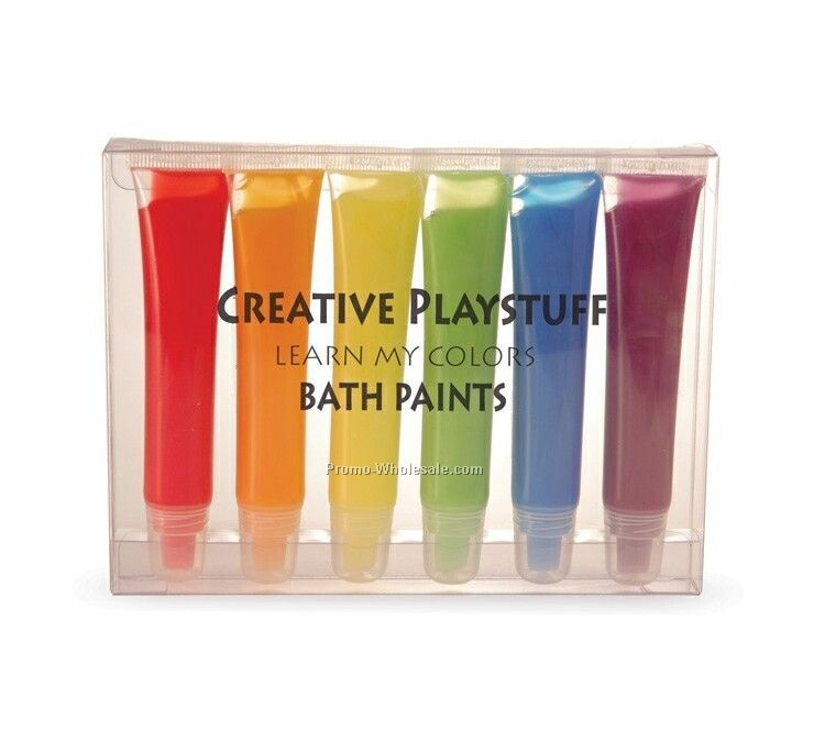 6 Pack Finger Paint Bubble Bath Sets