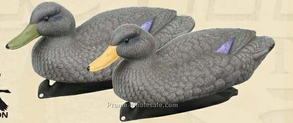 Classic Black Duck Decoy W/ Weighted Keel