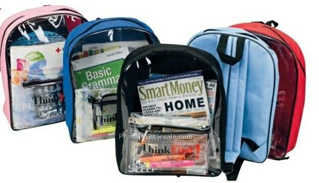 Clear Pvc Front Backpack (Blank)