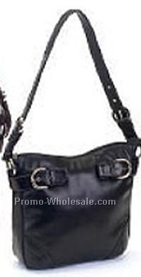 Cow Drum Dye Leather Handbag