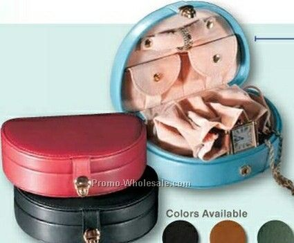 "Florentine Napa Leather Mini Jewelry Box (3-3/4""x5-1/4""x1-5/8"")"