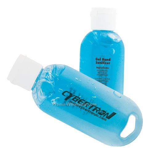 Gel Hand Sanitizer With Blue Tint - 2 Oz. Tottle