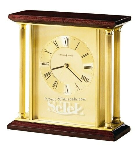 Howard Miller Carlton Rosewood Hall Finished Tabletop Clock (Blank)