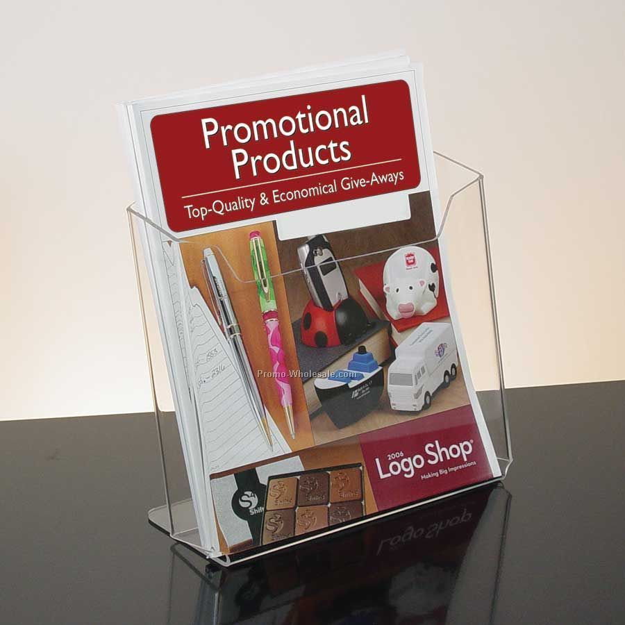 Single Pocket Clear Acrylic Literature Holder - Countertop