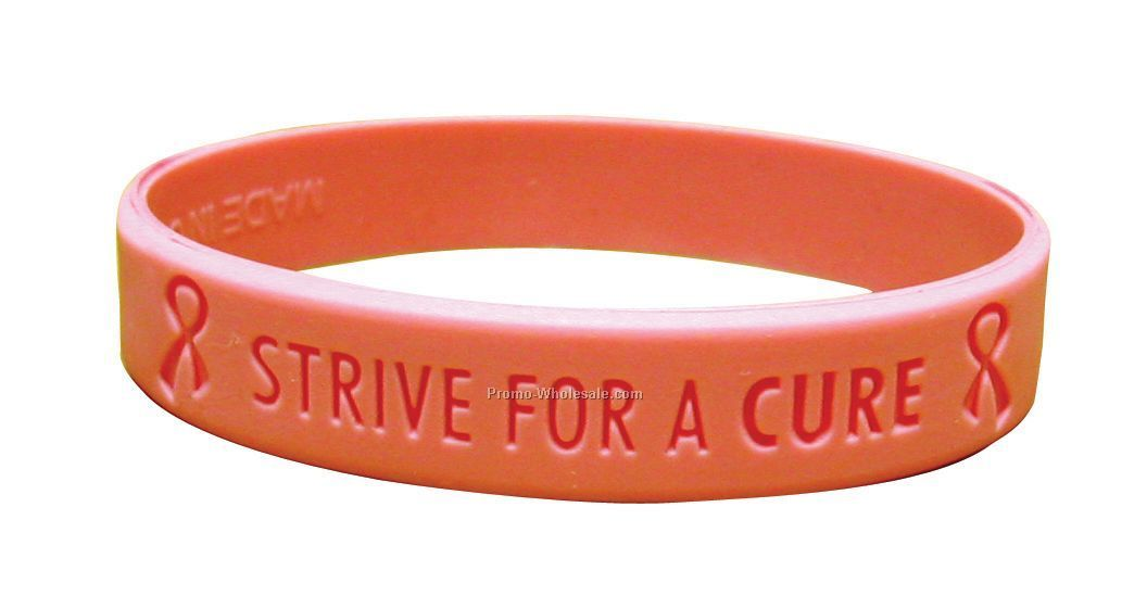 Stock Silicone Wrist Band (Strive For A Cure)