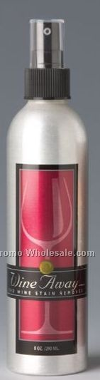 Wine Away Red Wine Stain Remover 8 Oz. Brushed Aluminum Spray Container