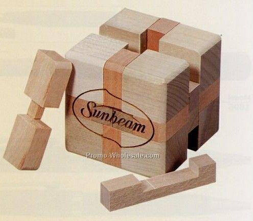 Wood 12 Piece Cube Puzzle