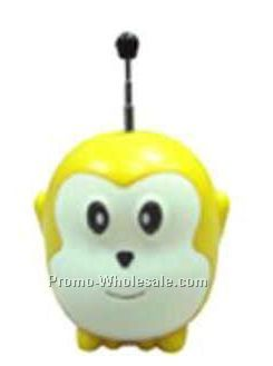 Yellow Monkey Radio With Antenna & Speaker