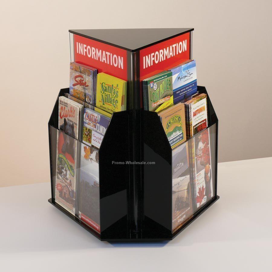 12-pocket Rotating Brochure Holder - Countertop