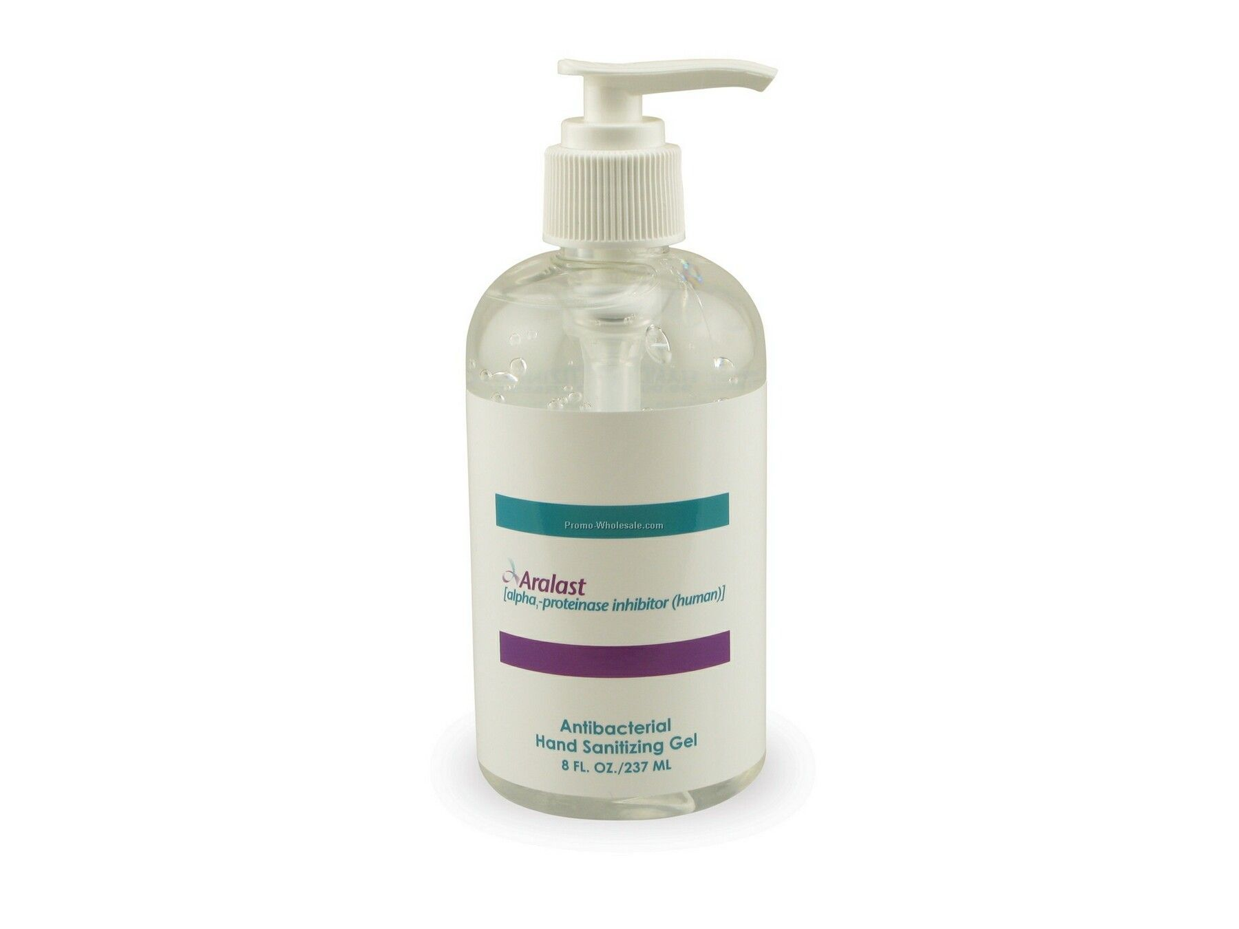 8 Oz. Boston Round Pumps - Antibacterial Liquid Soap