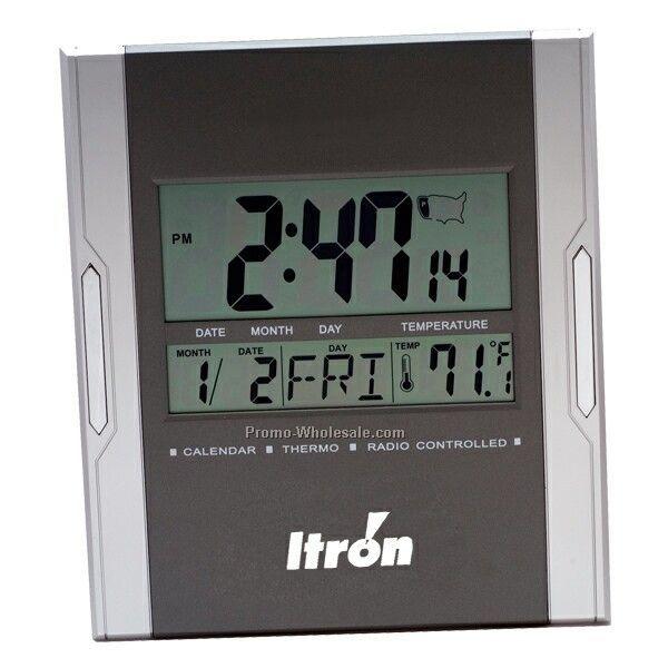 Atomic Digital Wall/Desk Clock W/ Alarm