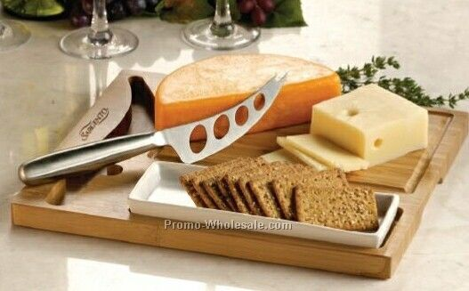 Bamboo Cheese Server Set