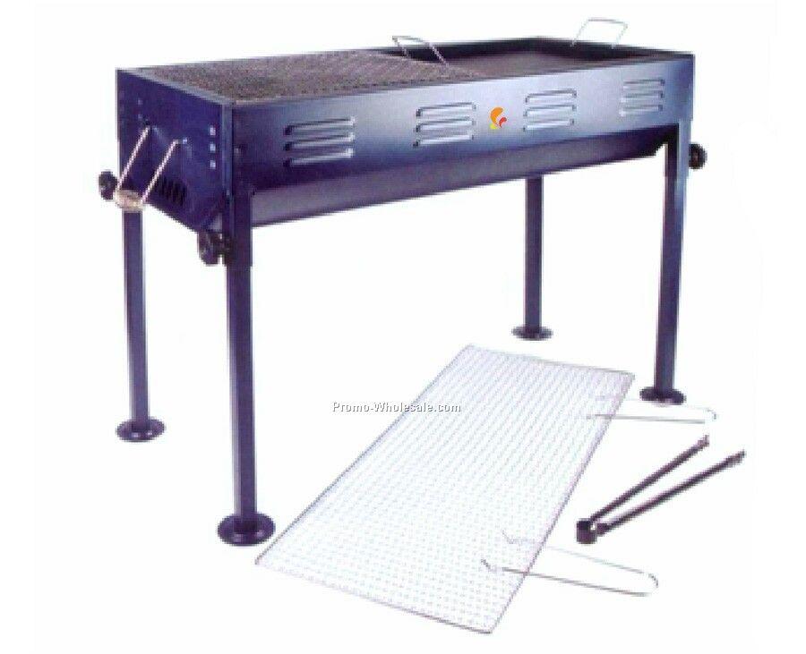 Barbecue Grill - Rectangular Metallic Blue