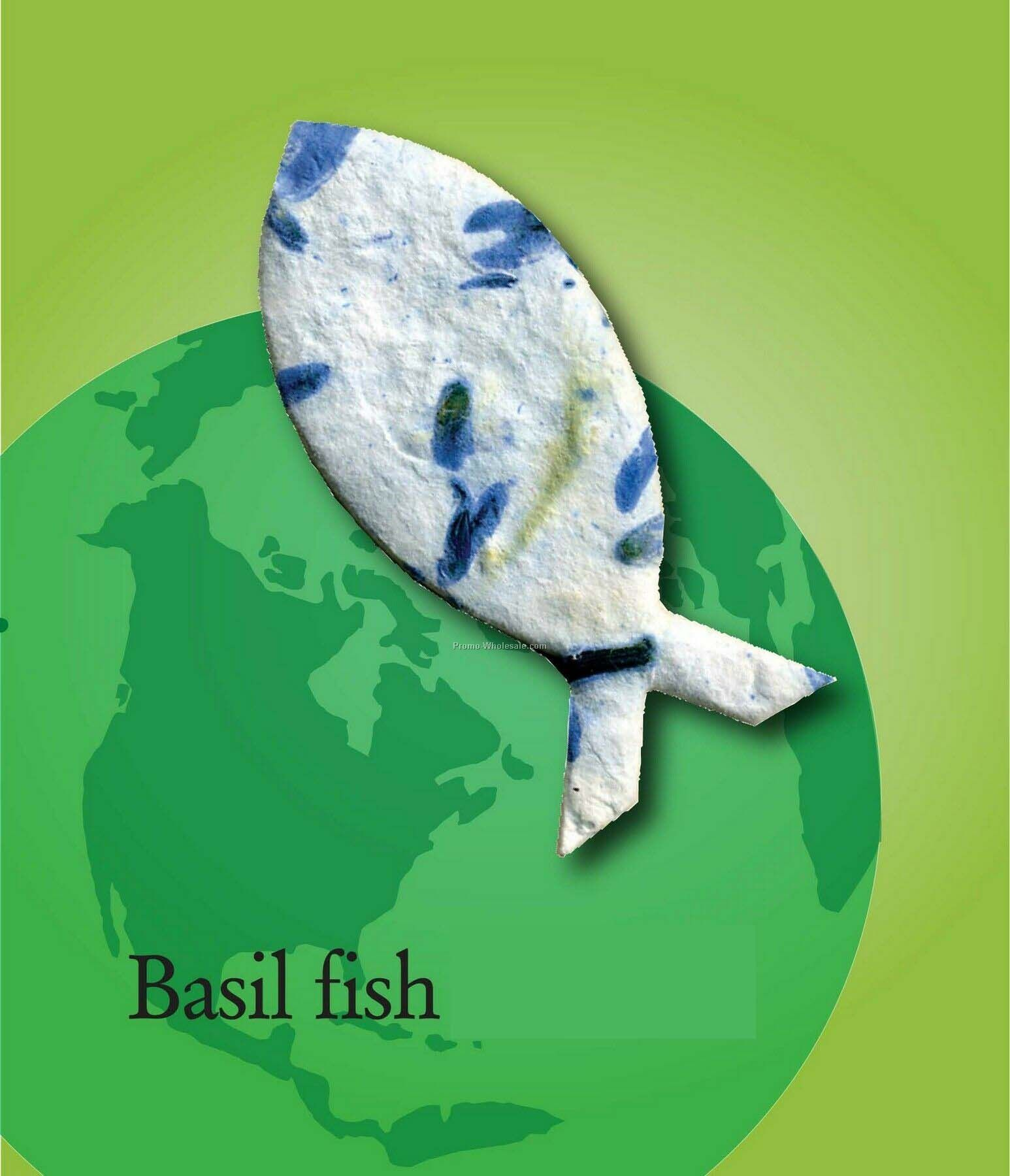 Basil Fish Handmade Seed Plantable Mini