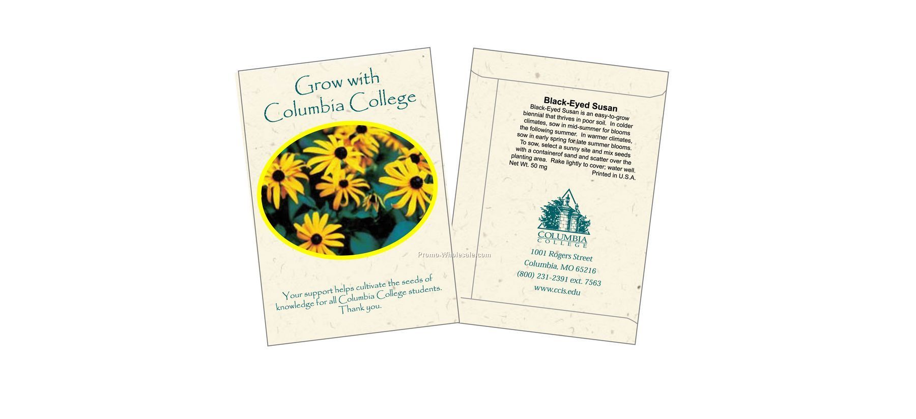 Black-eyed Susan Flower Seed Packet (1 Color)