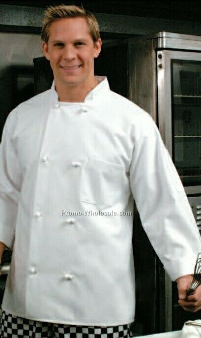 Classic Chef Coat (X-large/ White) Traditional Twill