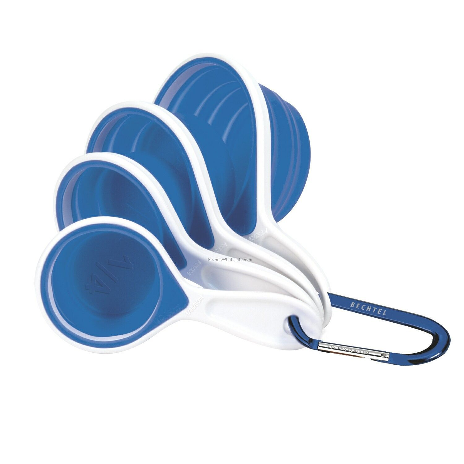 Cool Blue Silicone Measuring Cups