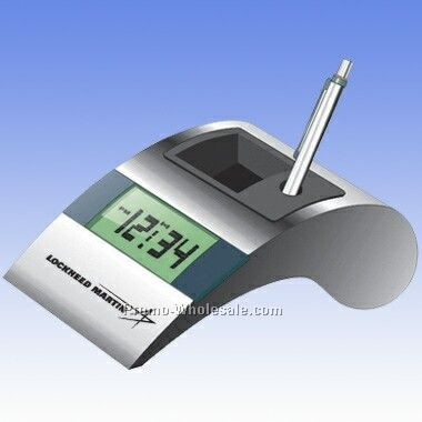 Digital Alarm/ Pen Holder (Engraved)