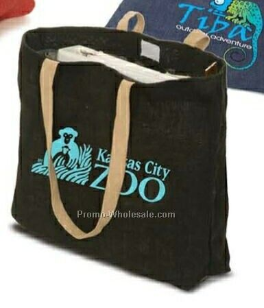Eco-green Jute Tote Bag (3 Day Rush)
