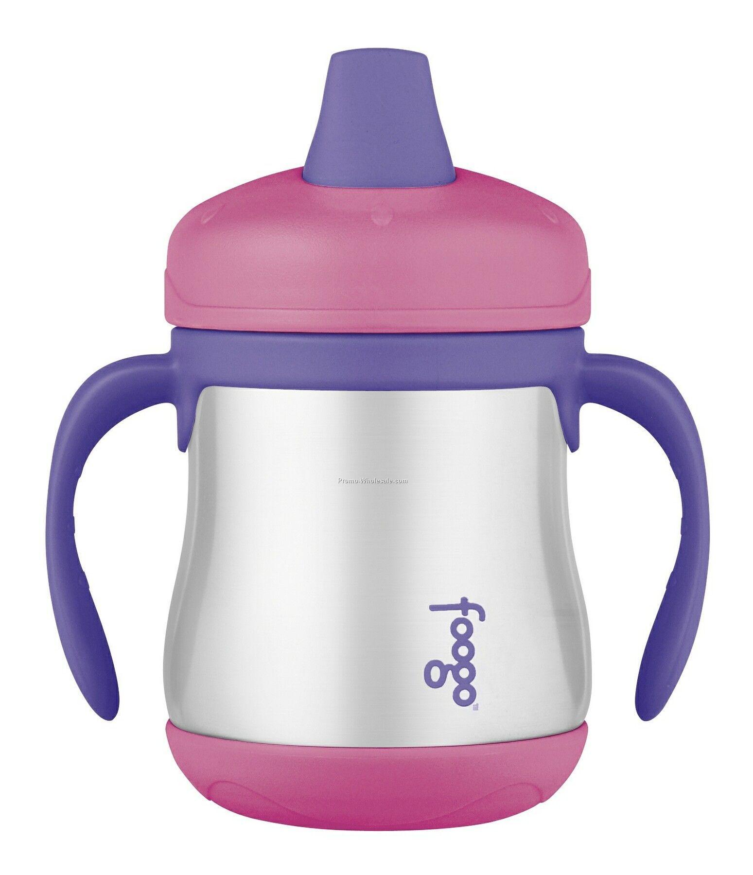 Foogo 7 Oz. Leak Proof Sippy Cup W/ Handles- Pink