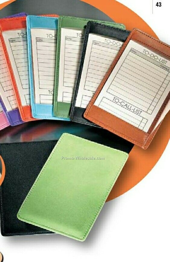 Genuine Leather Standard Note Jotter Memo Pad Holder (10 Card)