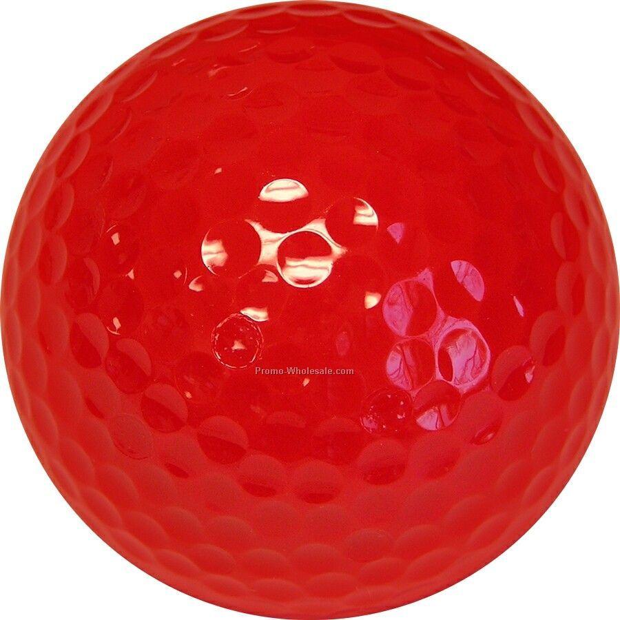 Golf Balls - Red - Custom Printed - 3 Color - Bulk Bagged